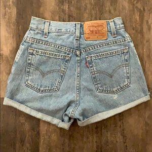 Vintage Levi Cutoff High Waisted Jean Shorts